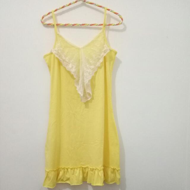 Yellow Tank-top Mini Dress