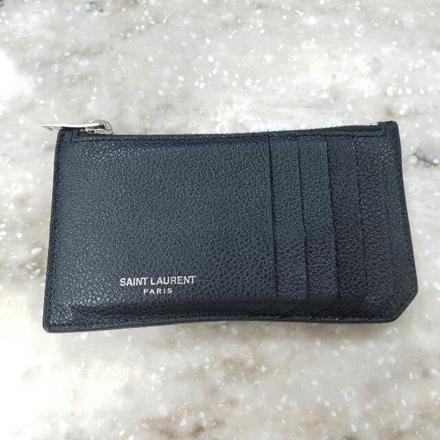 YSL Fragment Zip Wallet