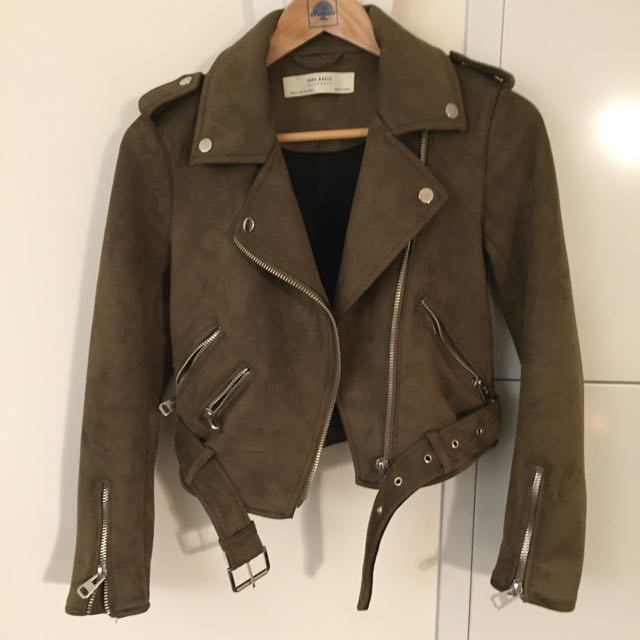 Zara Suede Effect Jacket 2017 Season