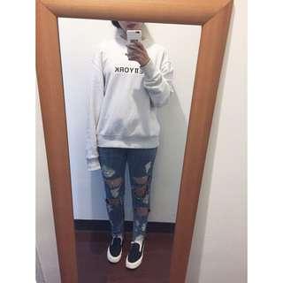 牛仔破褲 Made In Korea