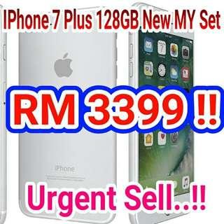 Apple Iphone 7 Plus 128GB Original New Set (SILVER)