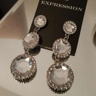 CZ Drop Earrings