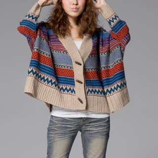 Oversized Cardigan Batwing Sleeve