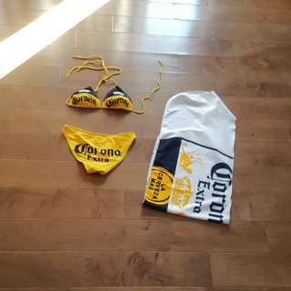 Corona Bikini With Matching Waist Tie