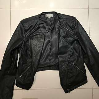 T By Bettina Liano Leather Look Jacket