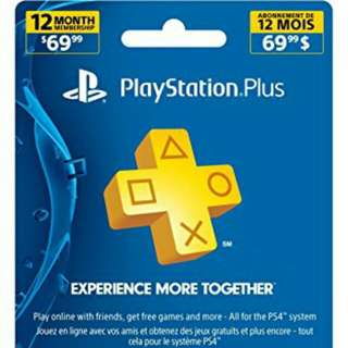 Unused Playstation Plus 1 Year Membership