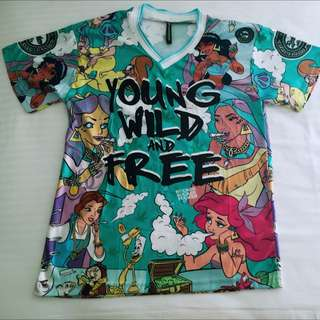 __BrandNew__Disney naught princess Young Wild and Free T-shirt