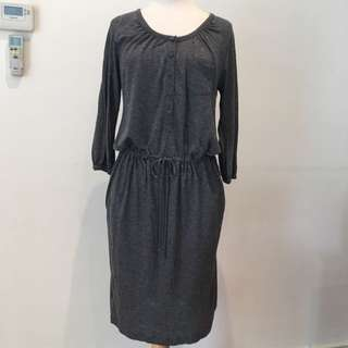 TRENERY Grey Jersey Dress With Pockets