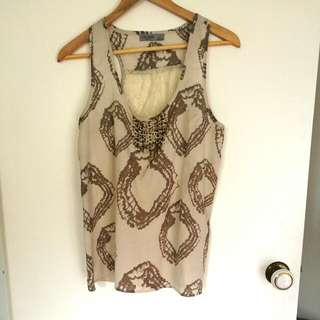 Just Jeans Evening Singlet Size 12