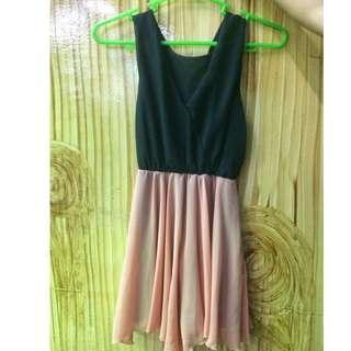 Black & Peach Dress