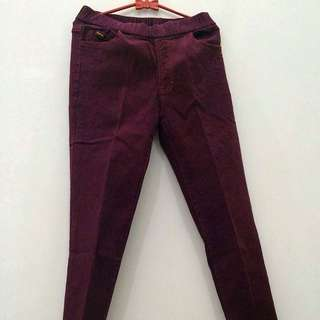 Maroon Jegging By FACTOR