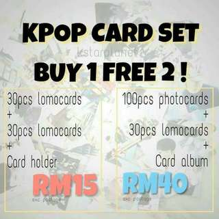 Buy 1 Free 2 Cards - Bts / Exo / Got7 / Seventeen / Twice / Big bang / Snsd / Ikon