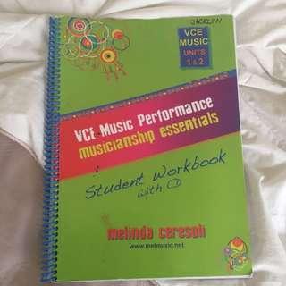 Vce Music Performance 1/2 Student Workbook
