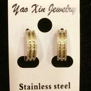 韓國流星沙不銹鋼耳環