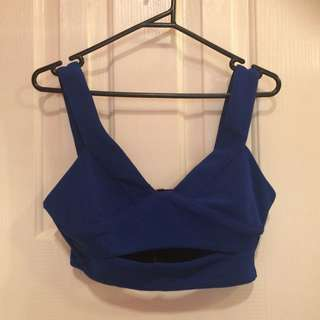 Pure Hype Electric Blue Crop Top Size Small