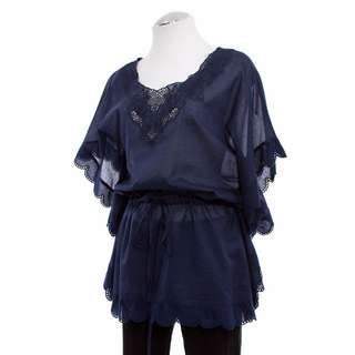 Jones New York Embroidered Tunic Top - Size S - 62% Off!!