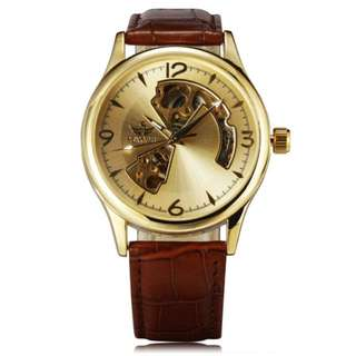 SEWOR 031 Men Automatic Mechanical Watch with PU Band