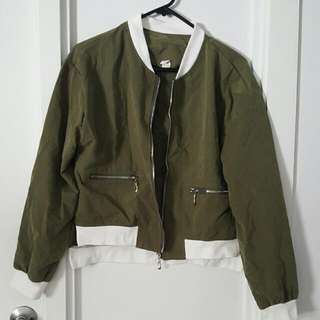 Army Green  Split Sides Jacket