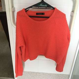 Cute Bright Orange Crop jumper