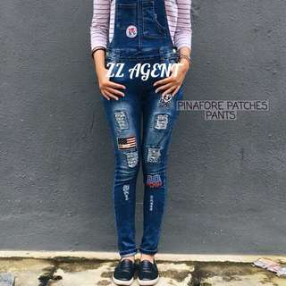 Pinafore Patches Pants