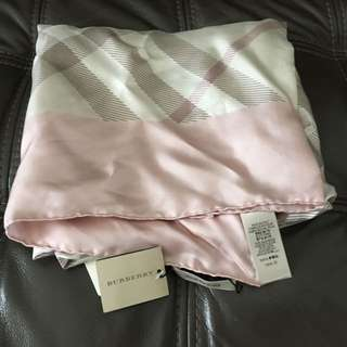 NEW Burberry 'Pale Rose Silk Square' Scarf