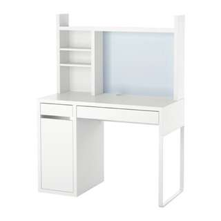 IKEA Micke書枱 - 白色樺木色
