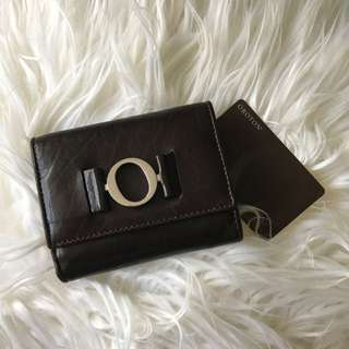 OROTON Ornament-Mini Wallet Chocolate ~ Authentic ~