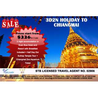 3D2N HOLIDAY TO CHIANGMAI
