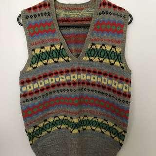 Retro Aztec Wooly Vest