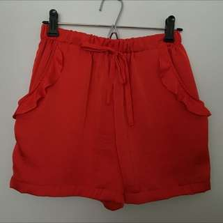 Pia Boutique Vibrant Orangey Red Pants
