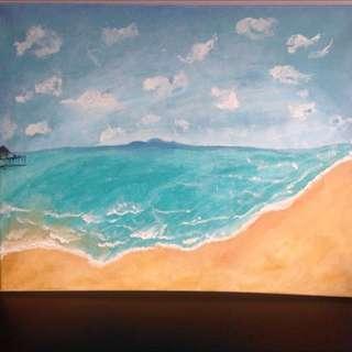 Seashore Oil Painting