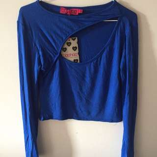 Boohoo Long Sleeve Crop Top