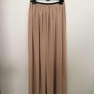 Beige Long Skirt