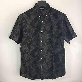 Old Navy幾何繪點短袖襯衫 SizeM