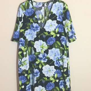 American Apparel Floral Sleeve Dress