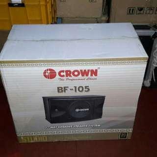 Brandnew Crown Speaker Model BF-105 (FREE DELIVERY)