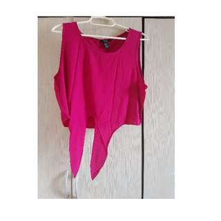 Hot Pink Forever 21 crop top