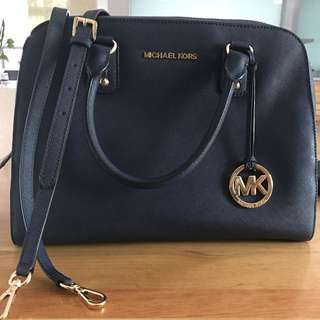 Michael Kors NAVY  Jet Set Handbag 2 Way