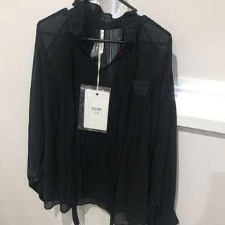 Black Sheer Long Sleeve