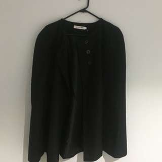 Black Womens Cape Jacket