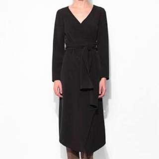 The Fifth Just For Now Wrap Midi Dress In Black