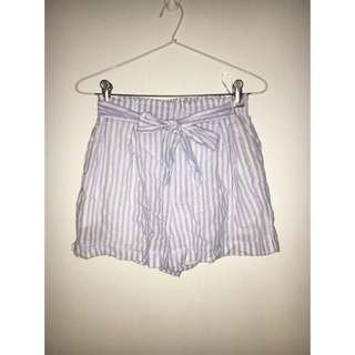 Mooloola Blue Stripe Shorts