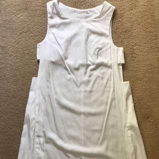 Moss man White Short Dress
