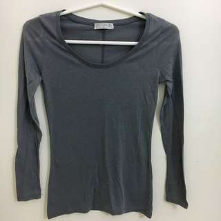 Cotton On Grey Long Sleeve Top