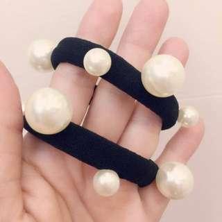 韓國製 珍珠造型髮圈