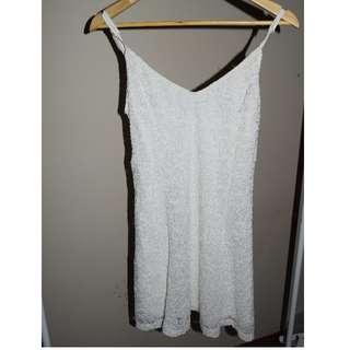 Cute White Lace Style Dress