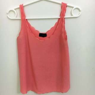 Topshop Scalloped Singlet