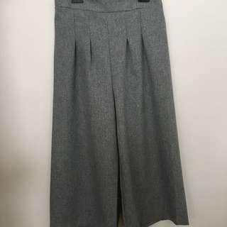 Grey Retro Flared Pants