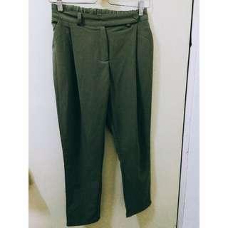 墨綠西裝老爺褲