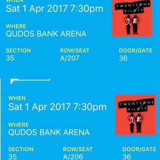 2x Twenty One Pilots Tickets Sydney